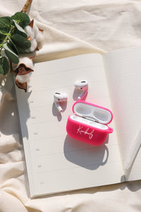 Pink Silicone Airpods Pro Case