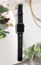 Load image into Gallery viewer, Black Apple Watch Strap