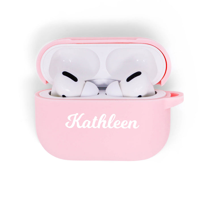 Pastel Pink Silicone Airpods Pro Case
