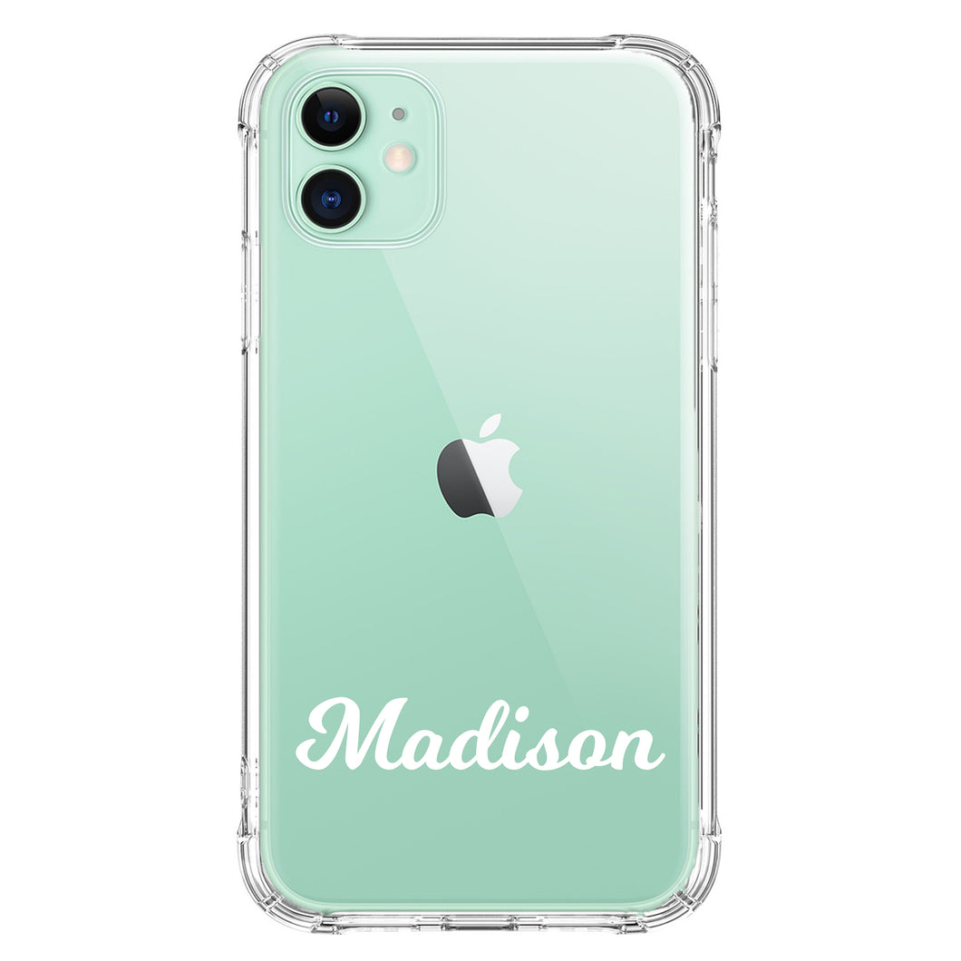 Bubbly Font on Clear Case