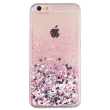 Load image into Gallery viewer, pink heart glitter case
