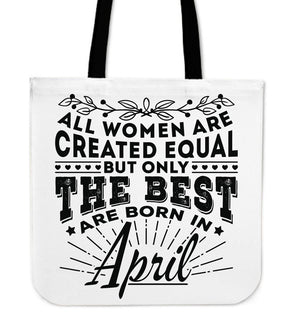 04 Born In April Tote Bag 16""