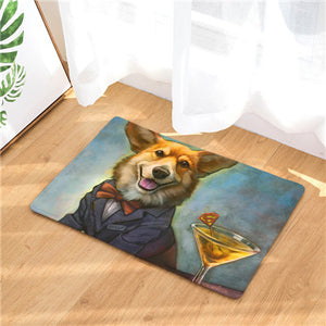 Corgi Cocktail Doormat
