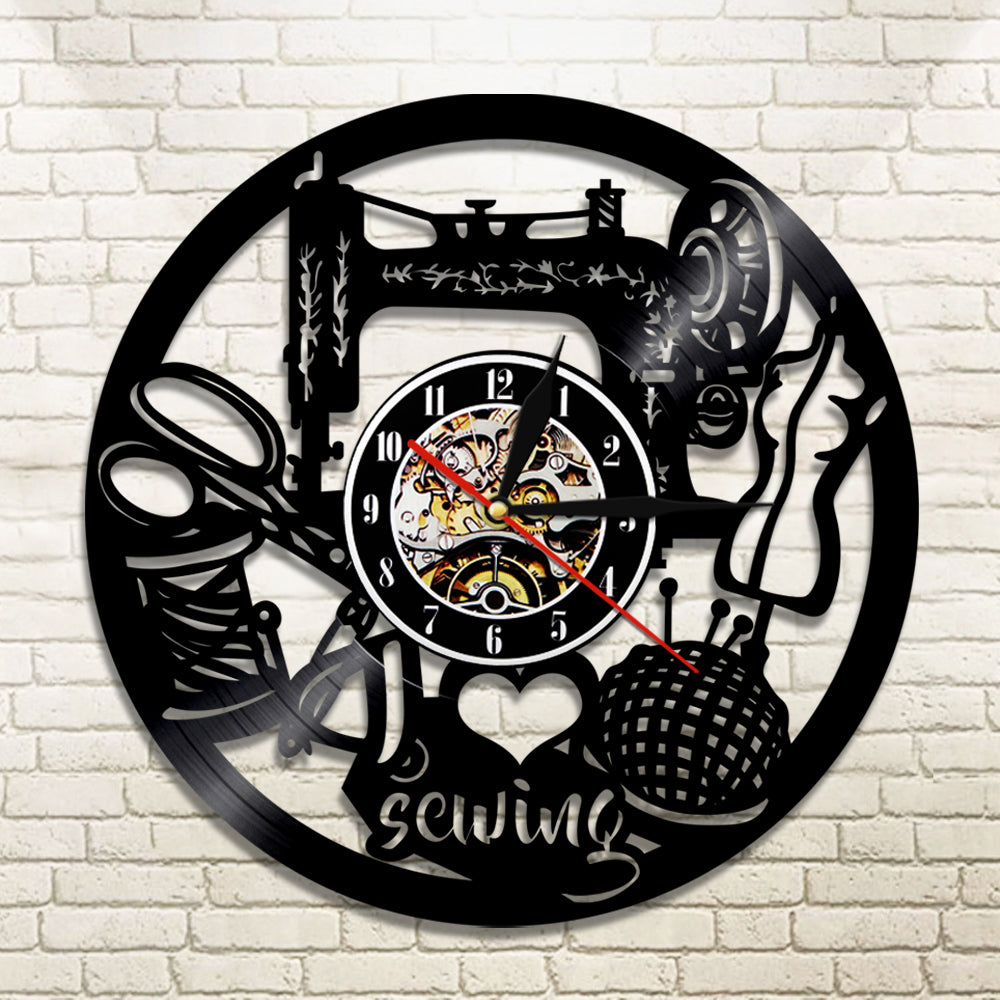 I love sewing vinyl wall clock with led light onepunz i love sewing vinyl wall clock with led light amipublicfo Gallery