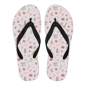 Cute Sewing Kit Flip Flops