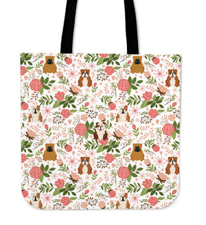 Bulldog Floral Tote Bag * Free Shipping! *