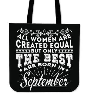 09 Born in September Tote Bag 16""