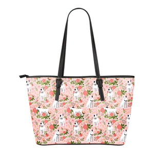 Bull Terrier Floral Leather Tote Bag * Free Shipping! *