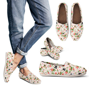 French Bulldog Floral Casual Shoes
