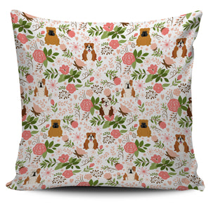 Bulldog Floral Pillow Cover * Free Shipping! *