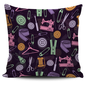 Purple Sewing Tools Pillow Cover * Free Shipping! *