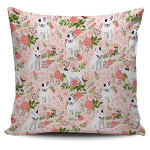 Bull Terrier Floral Pillow Cover * Free Shipping! *