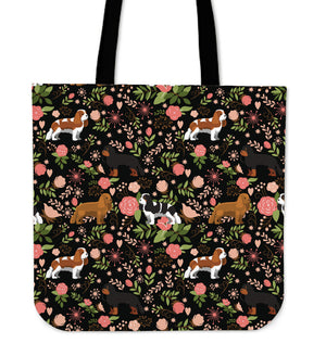 Flower Cavalier King Charles Spaniel Tote Bag * Free Shipping! *