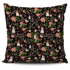 Flower Bull Terrier Pillow Cover * Free Shipping! *