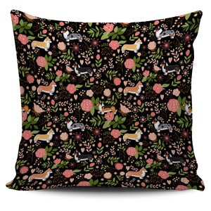 Corgi Floral Pillow Cover * Free Shipping! *