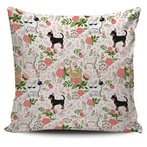 Chihuahua Floral Pillow Cover * Free Shipping! *