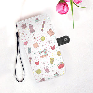 Sewing Polkadot Wallet Case