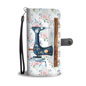 Watercolor Sewing Machine Wallet Case