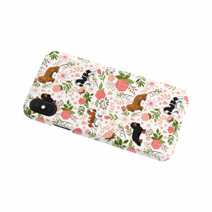 Cavalier King Charles Spaniel Floral Phone Case