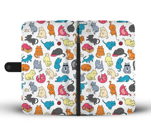 Cute Cat Wallet Case