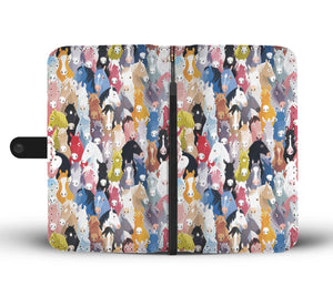 Colorful Horses Wallet Case