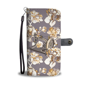 Sewing Machine Flower Wallet Case