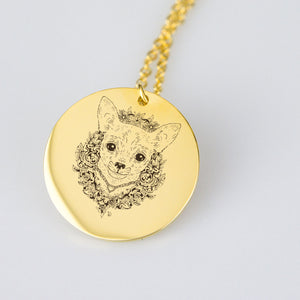 Chihuahua Floral Necklace