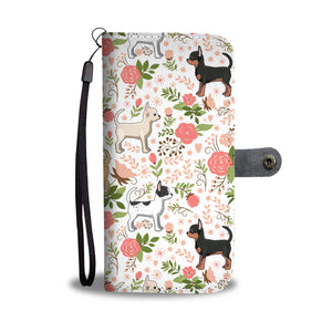 Chihuahua Floral Wallet Case