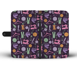 Purple Sewing Tools Wallet Case