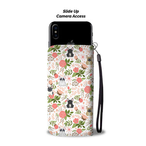 French Bulldog Floral Wallet Case