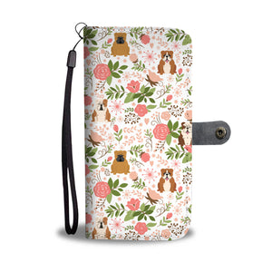 Bulldog Floral Wallet Case