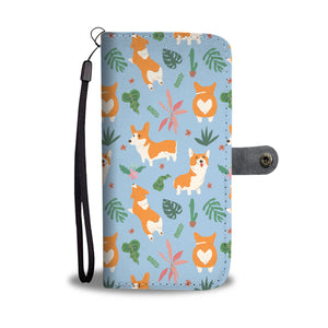 Corgi Tropical Wallet Case