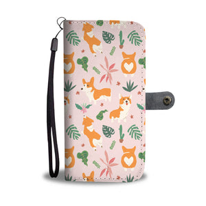 Corgi Tropical Wallet Case (Pink)
