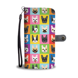 Colorful French Bulldog Wallet Case