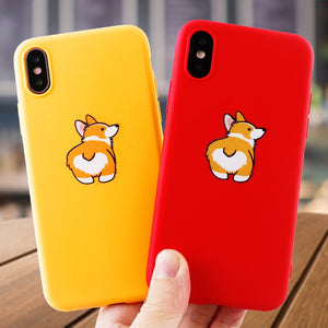 Cute Corgi Silicone Case for iPhone
