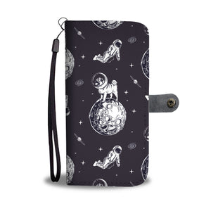 Astronaut Pug In Space Wallet Case