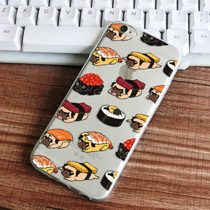 Sushi Pugs Soft TPU iPhone Case