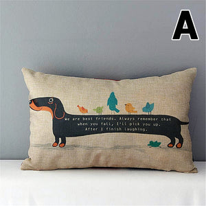 "12"" x 20"" Dachshund Cushion Cover"