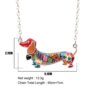 Happy Dachshund Necklace * Free Shipping! *