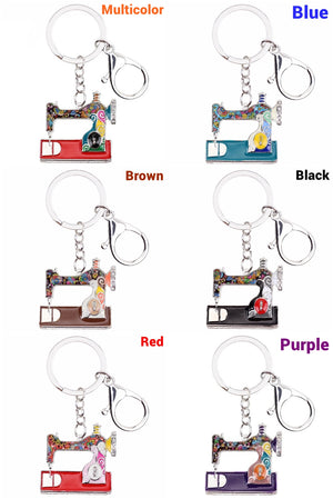 Cute Sewing Machine Keychain