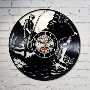 Carp Fishing Vinyl Wall Clock