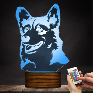Corgi Face LED Lamp / Night Light
