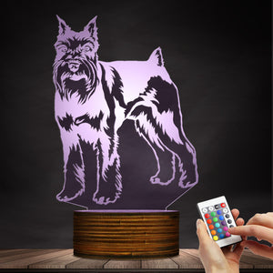 Awesome Schnauzer LED Lamp / Night Light