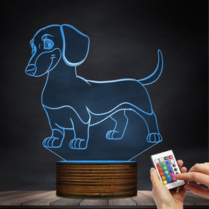 Cute Dachshund LED Lamp / Night Light