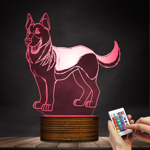 Cute German Shepherd LED Lamp / Night Light