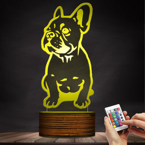 Cute French Bulldog LED Lamp