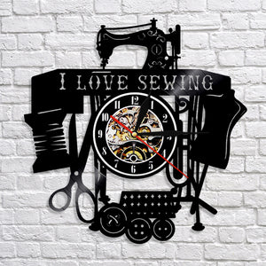 Sewing Machine Wall Clock