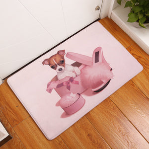 Cute Jack Russell Puppy Floor Mat
