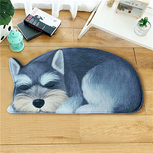 3D Schnauzer Sleeping Anti-Slip Floor Mat