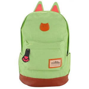 Backpack - Cute Cat Ear Canvas Backpack * FREE SHIPPING! *